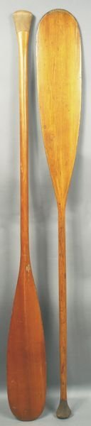 3003: Two Mid 20th C. Old Town Canoe paddles