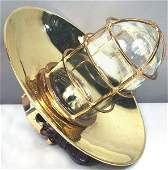 3004 Mid 20th C Ships Bulkhead Lantern