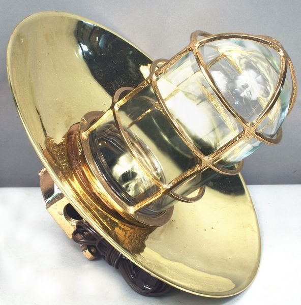 3004: Mid 20th C. Ship's Bulkhead Lantern