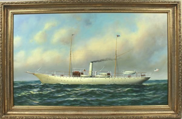 "3010: P. Stanton (1900-), Am. Steam Yacht ""Columbia"""
