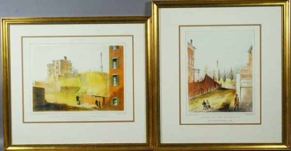 3013: Two 20th C. Prints of Boston