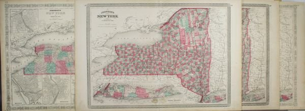 3018: Four Lithograph Maps of Views of New York