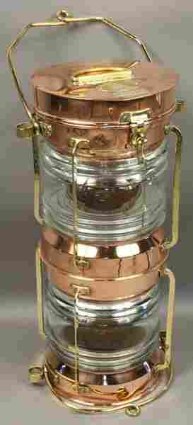 Mid 20th C. Double Stack Ship's Anchor Light