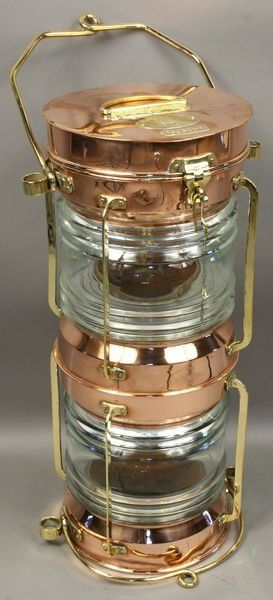 3195: Mid 20th C. Double Stack Ship's Anchor Light