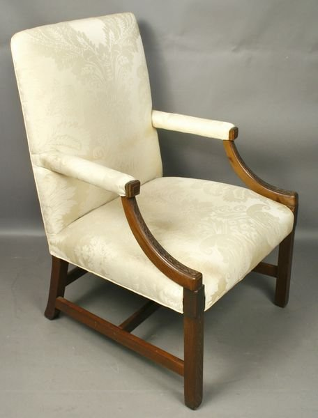 4002: 19th Century Chinese Chippendale Lolling Chair