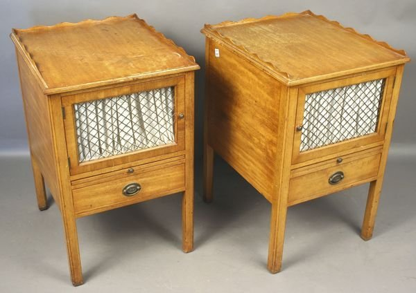 4003: Pair of Early 20th C. Night Tables by H. Sacks