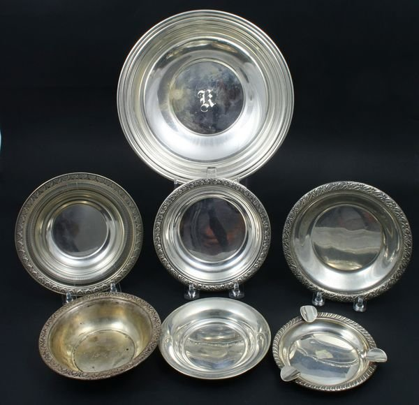 4008: (7) Sterling Silver Pieces, Bowls, etc., Wallace