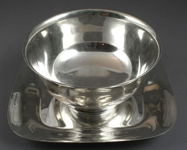4019: Sterling Tiffany Paul Revere Bowl and Tray