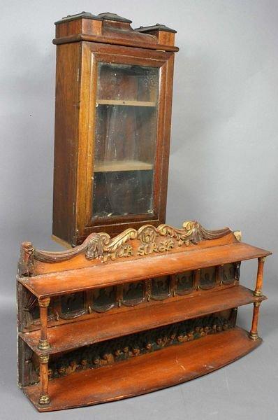 4024: Pair of Small Wall Cabinets, La Scala Opera
