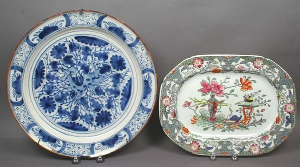 "4026: 17th Century Delft Charger, 13"" diameter"