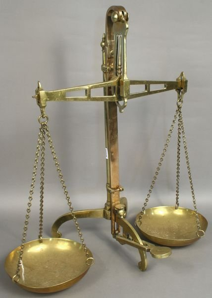 5001: Large Brass Balance Scale by Degrave, London