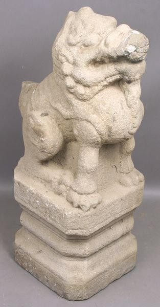 5006: 19th Century Chinese Carved Stone Dog