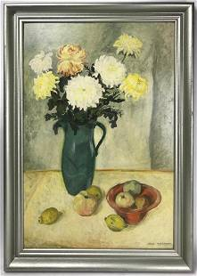 Attributed to Peterson, Still Life, Oil on Panel