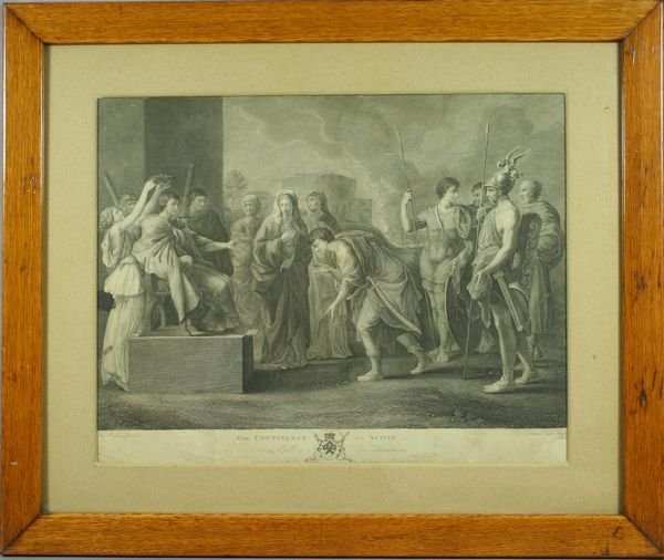6001: The Continence of Scipio, Print Published 1784