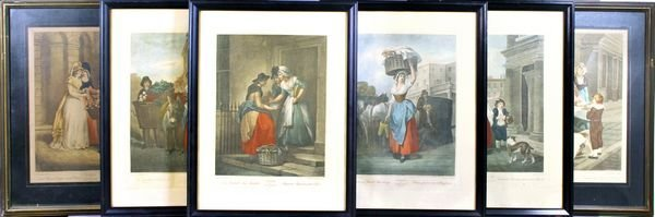 "6015: (6) 19th C. Lithographs, ""Cries of London"" Series"