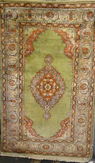 """8: Antique Turkish Prayer Rug, 2' 11"""" x 5'"""