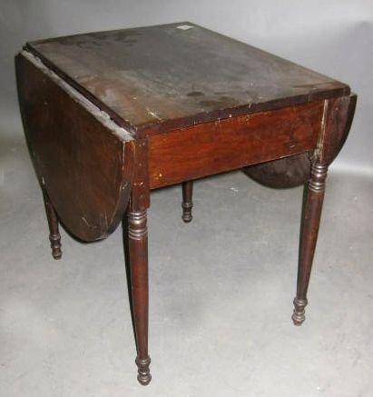 9: 19th Century Mahogany Miniature Drop-Leaf Table