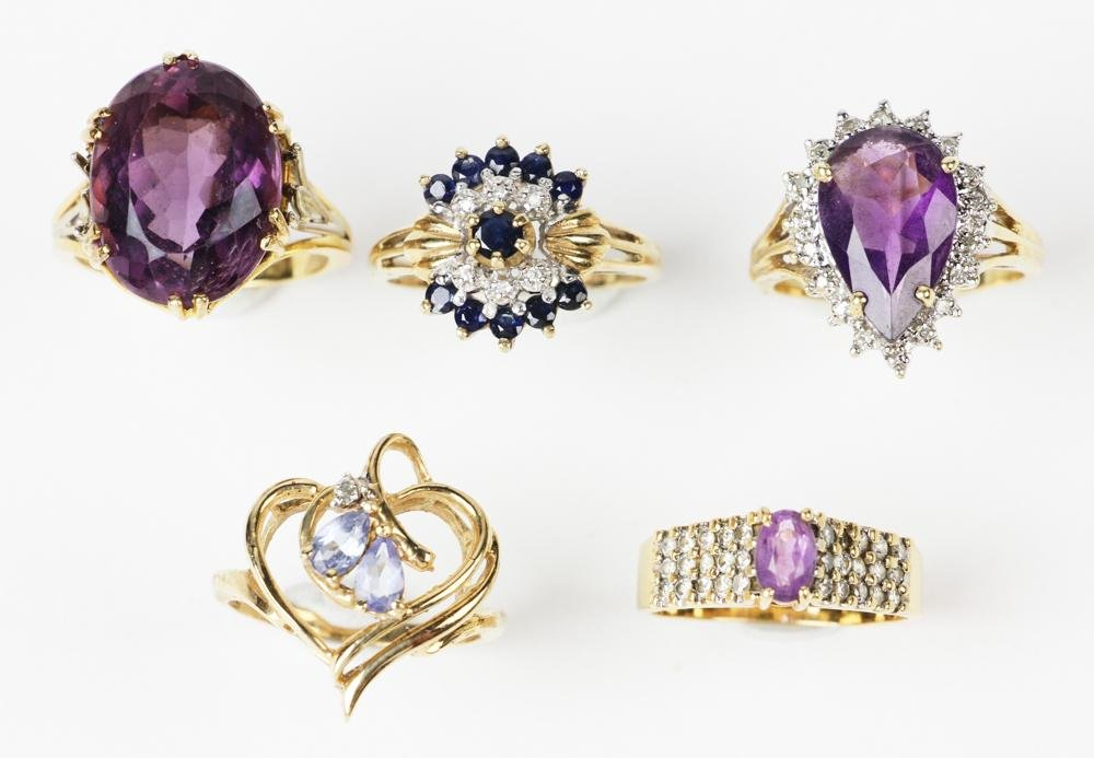 Five Cocktail Rings
