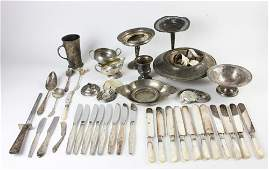Group of Sterling Silver Flatware and Bowls