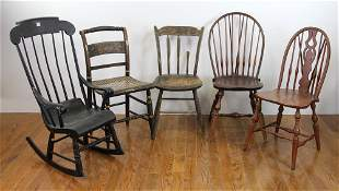 Assorted Group of Country Chairs