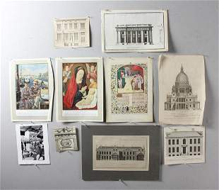 18th 19th and 20thC Architectural Prints