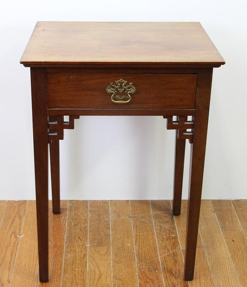 18thC Chinese Chippendale Mahogany Stand