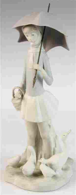 Lladro Figure of Woman with Umbrella