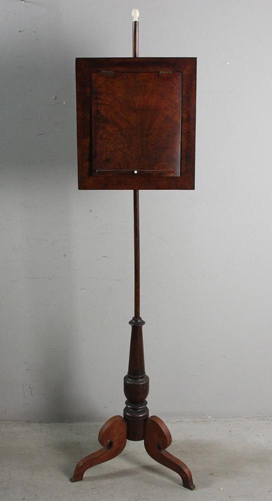 Early American Classical Mahogany Pole Screen