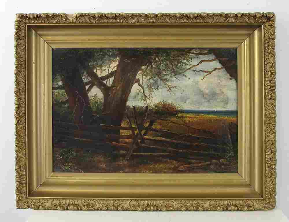 19thC American School, Woodland Landscape, O/C