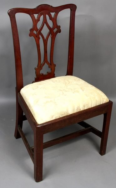 1008: C1775 Chippendale Philadelphia Side Chair