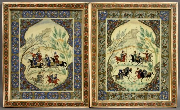 1010: Two (2) 20th Century Persian Paintings on Ivory