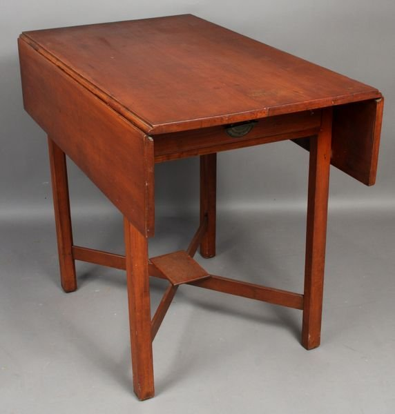 1011: C1780 Massachusetts Cherry Pembroke Table