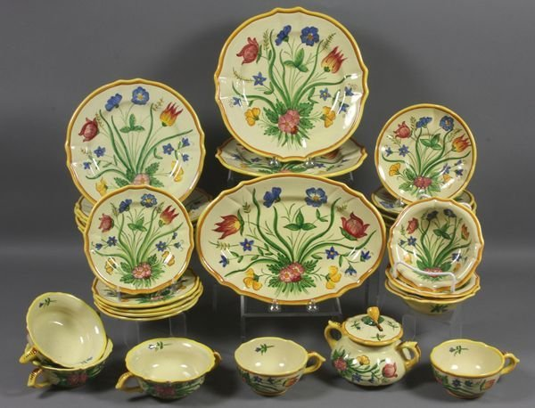 "1017: Early 20th C. Italian ""Tulipano"" Dinnerware"