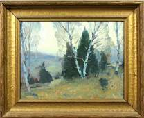 Signed Emile Gruppe, Vermont Birches, o/b