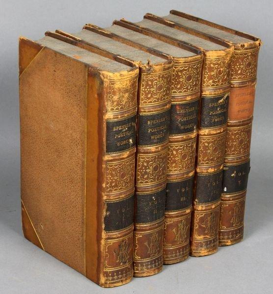 4B: 5Vols. Poetical Works, Edmund Spense, 1849