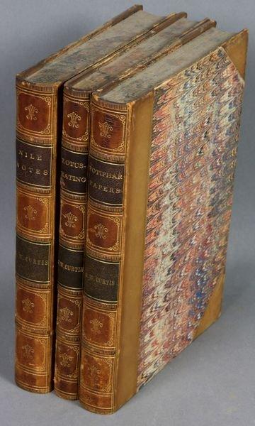 17B: 3Vols. Works of George William Curtis, 1854