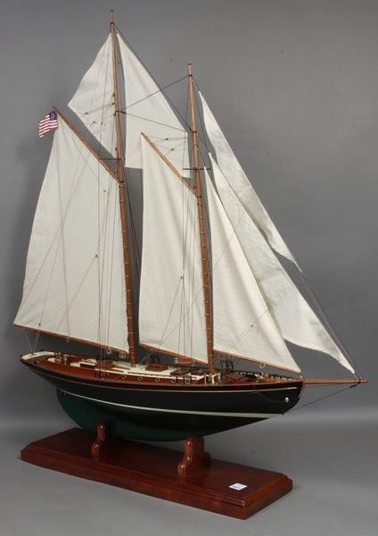 """2151: Scale Model, John Alden Schooner """"Malabar X"""""""