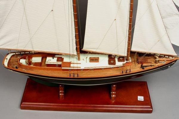 """2151: Scale Model, John Alden Schooner """"Malabar X"""" - 2"""