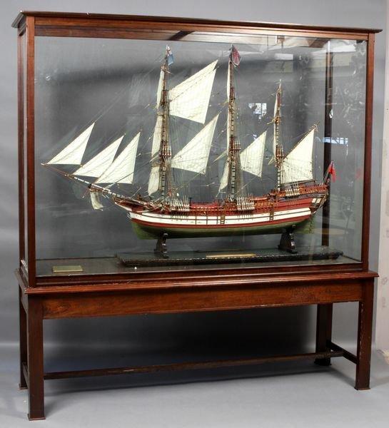 2162A: C1980 Ship Model, H.M.S. Endeavor, Besgneux