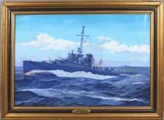 2180C: Signed Anton Otto Fischer, USS Bazely, o/c