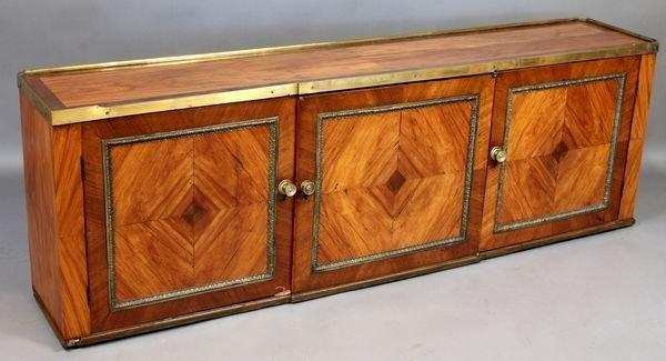 2268: C1800 English Parquetry Three-Door Cabinet