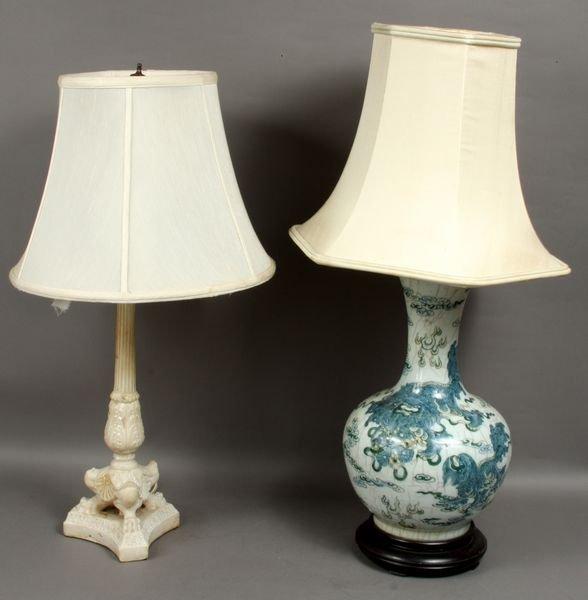 2301: (2) 20th C. Japanese Foo Dog Design Lamps