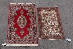Lavar Kerman Rug and Persian Hamadan Rug