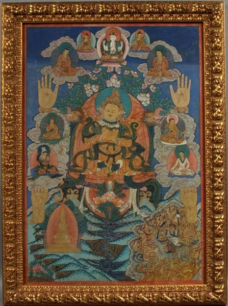 3002: 19th Century Thangka Painting on Cloth, 24 x 17