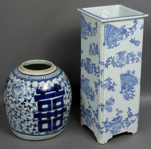 3003: 19th C. Chinese Porcelain Vase and Ginger Jar