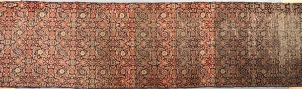 "3016: Antique Persian Mahal Runner, 10' 8"" x 2' 11"""