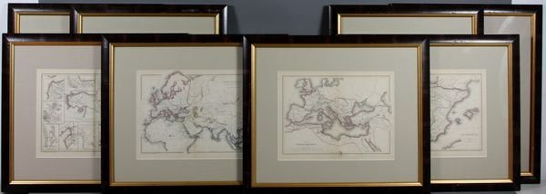 4011: (13) Assorted 19th Century Maps w/ Hand Coloring