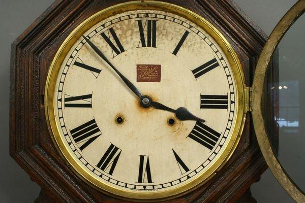4176: Ansonia Oak Regulator Schoolhouse Clock - 2