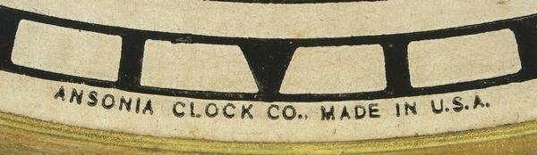 4176: Ansonia Oak Regulator Schoolhouse Clock - 3