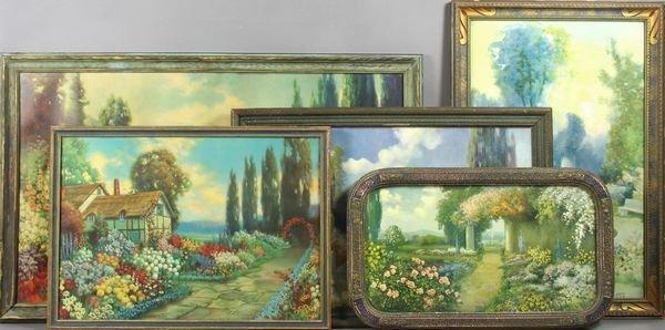 4209: Five (5) R. Atkinson Fox Prints, Framed, C1920